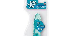 Вибромассажер-фаллоимитатор Jelly Joy Blue 17 см